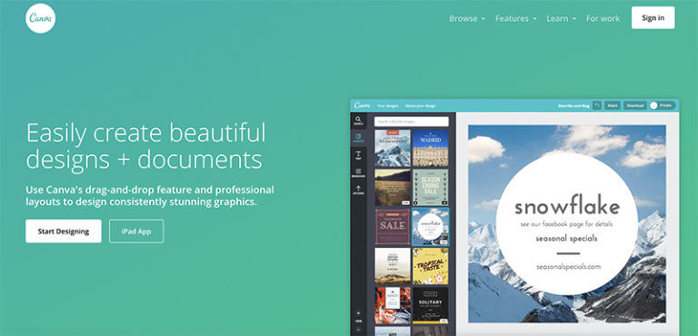 Canva Tool for Designing Blog Logos