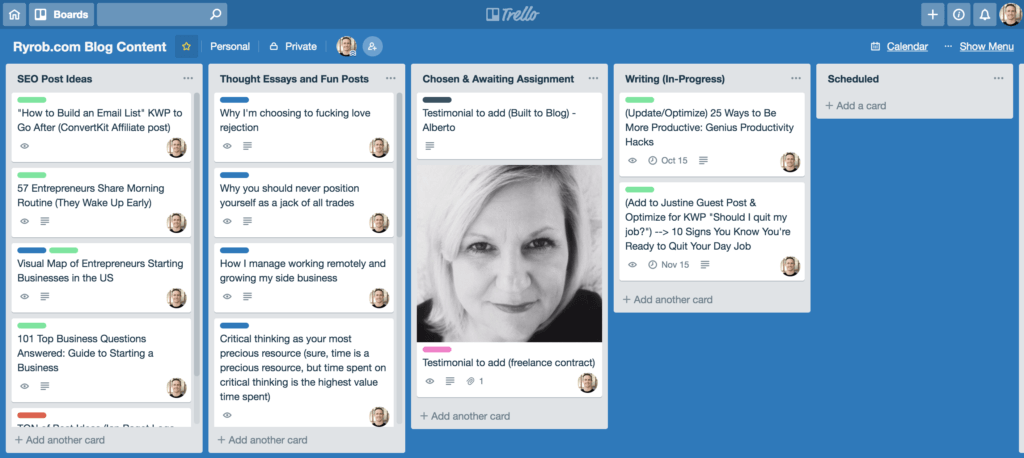 Trello to Manage Your Blog Editorial Calendar