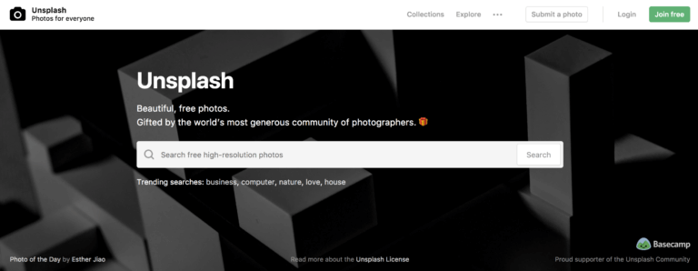 Unsplash Stock Photo Site for Free Blog Images to Use